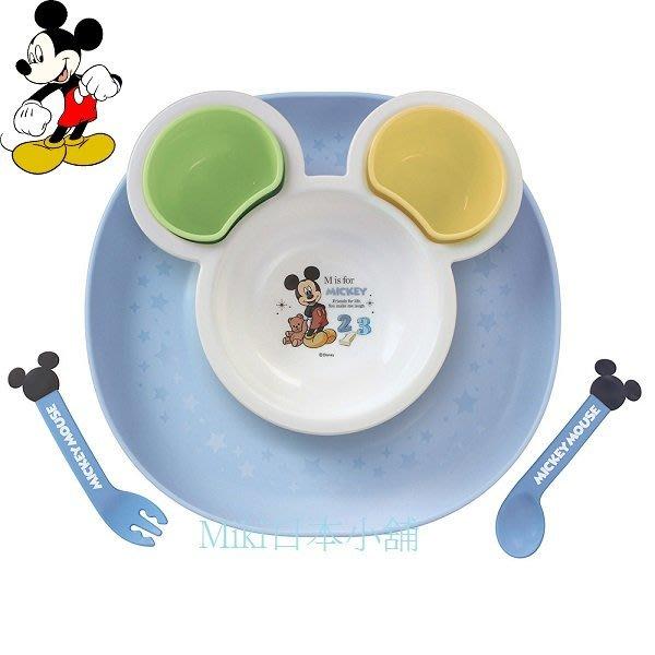 *Miki日本小舖*日本迪士尼 Mickey 米奇造型餐具附托盤套裝組