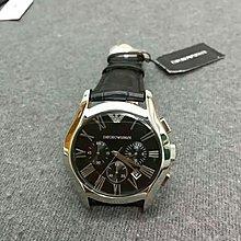 正品 Armani亞曼尼AR男士腕錶潮流時尚三眼計時多功能防水日曆石英手錶男士鏤空曼尼手錶 AR1633 阿瑪尼 手錶