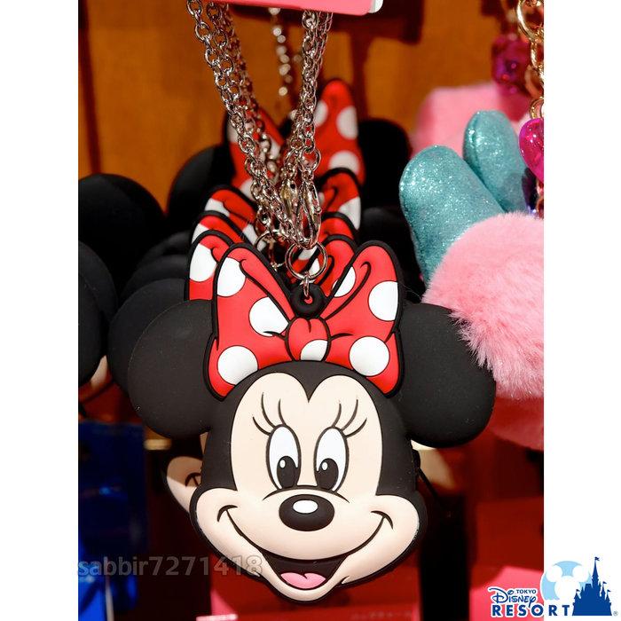 JP購✿樂園限定頭型矽膠零錢包 米妮 日本東京迪士尼樂園 拉鍊 零錢包 吊飾 掛飾 鑰匙圈 401350097854