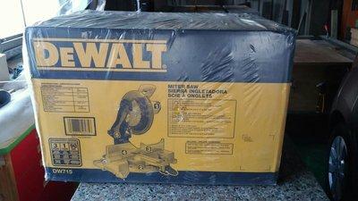 美國Dewalt DW715 12吋/305mm 木鋁 多角度 切斷機 非 makita BOSCH 力山 M3052R