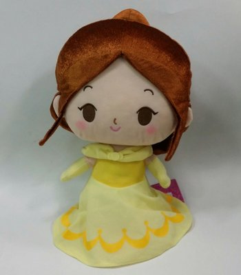 迪士尼公主 美女與野獸 貝兒公主 玩偶 娃娃 迪士尼正版授權