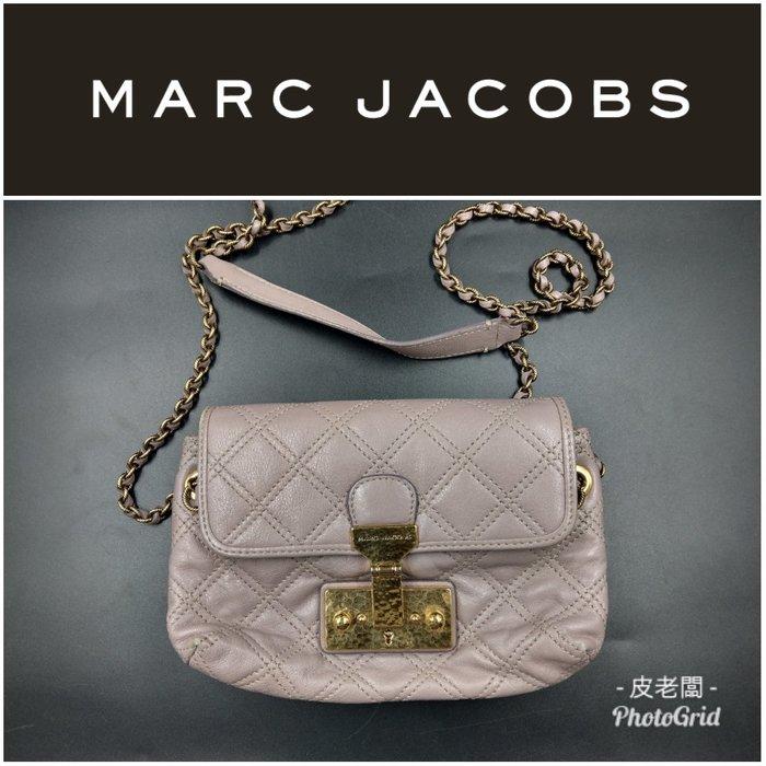 【皮老闆】二手真品 Marc Jacobs 薰衣草紫 斜背包 藍2