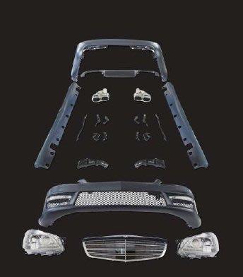泰山美研社 E3762 BENZ W221 06 07 08 09 10年份 改S65 空力套件 大包圍