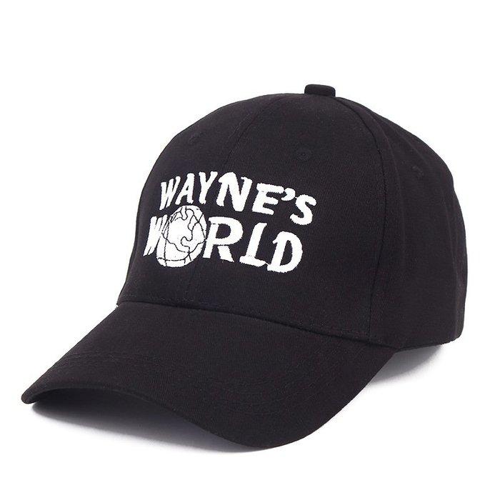 FIND 韓國品牌棒球帽 男女情侶 時尚街頭潮流 韋恩的世界字母刺繡 帽子 太陽帽 鴨舌帽 棒球帽