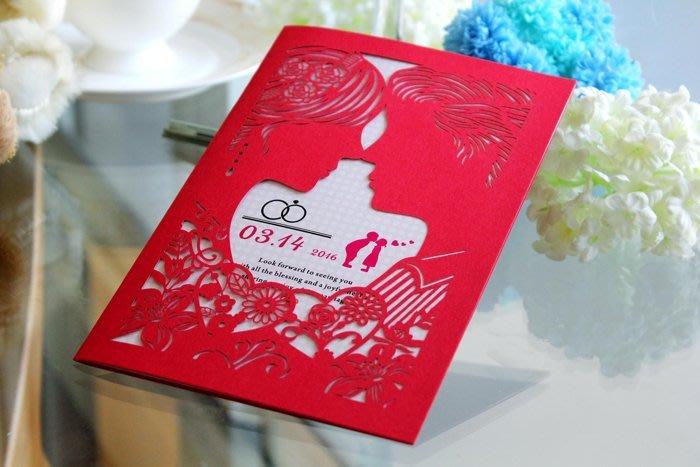 『潘朵菈精緻婚卡』♥ 激光雕刻22元喜帖系列 ♥ 喜帖編號:H-34603