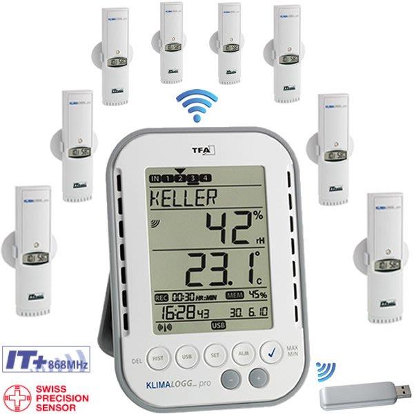 【可自取】TFA 德國 專業多點 溫濕度 紀錄器 3039IT 可外接八個發射器可由電腦紀錄 溫度計 溼度計 記錄器