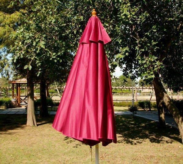 [兄弟牌戶外休閒傢俱]9尺太陽傘布防水抗UV太陽傘(酒紅色 270cm)綠色/米白色/藍色(不含骨架)多色選購