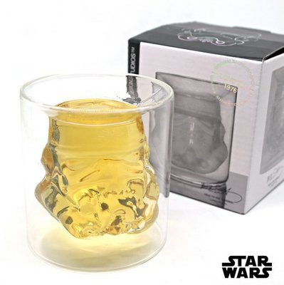 STAR WARS創意星球大戰白兵高硼矽玻璃杯 雙層烈酒啤酒杯武士杯