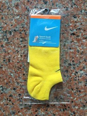 Nike襪 【素面款  春 薄款船襪 】【黃色】【 】