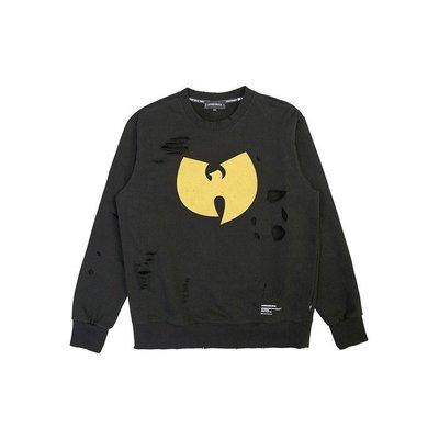 韓國 新銳設計師 品牌 Stereo vinyls W Distressing Sweatshirts 破洞 長袖 棉T