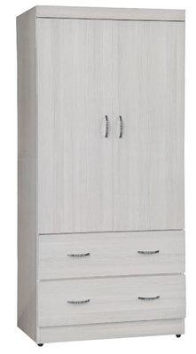 【南洋風休閒傢俱】精選時尚衣櫥 衣櫃 置物櫃 拉門櫃 造型櫃設計櫃-無敵雪松3*6尺二抽衣櫥 CY67-836