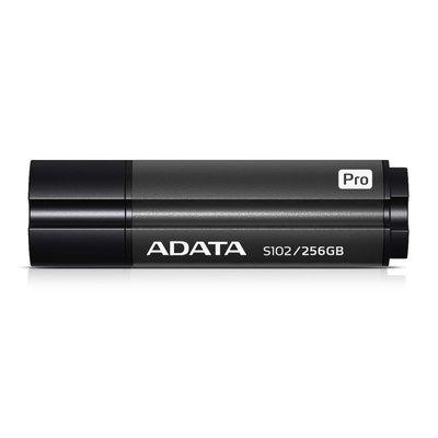 【鴻霖-隨身碟】威剛 S102 pro 256GB USB3.2行動碟 (灰) 高速傳輸
