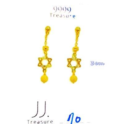 金長成銀樓@純金耳環:0.70錢黃金耳環/有實體門市可鑑賞 pure gold || Earring