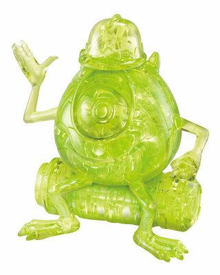 日本進口拼圖 迪士尼 皮克斯 怪獸大學 怪獸電力公司 大眼怪 39片3D立體塑膠透明水晶拼圖 76227
