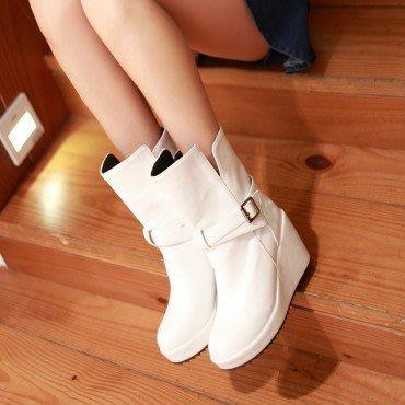 yes99buy加盟-純色防滑中筒女靴