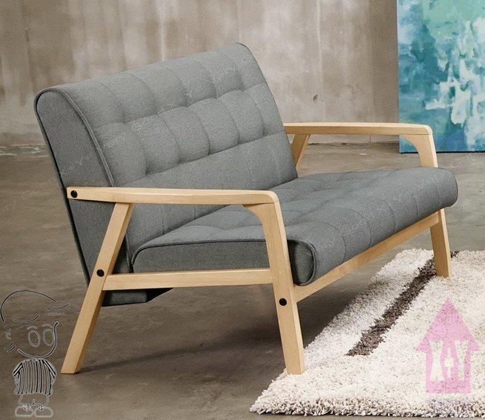 【X+Y時尚精品傢俱】現代沙發組椅系列-妮克絲 休閒沙發雙人椅.橡膠木實木+高級棉麻布座墊.摩登家具