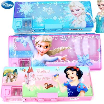 【預購】迪士尼 冰雪奇緣 密碼鎖文具盒 兒童小學生多功能筆盒男童女童鉛筆盒