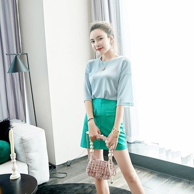 ☆TANG KOREA*╮正韓 套裝兩件套名媛時尚半身裙女士上衣短裙