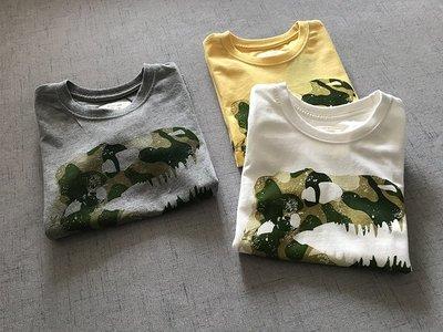 【Mr. Soar】 G275 夏季新款 歐美style童裝男童迷彩恐龍短袖T恤 中大童 現貨