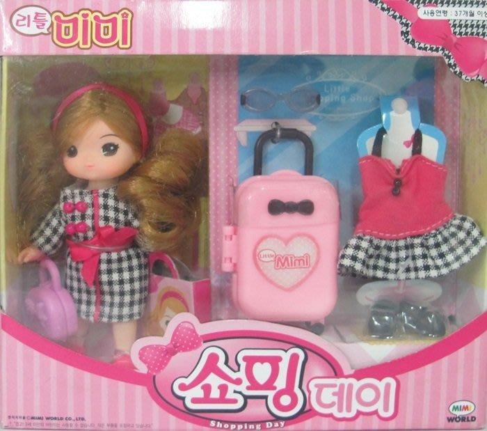【阿LIN】12532A 迷你MIMI購物組 韓國 MIMI WORLD 洋娃娃 玩偶 人偶 逛街 家家酒 正版 ST安