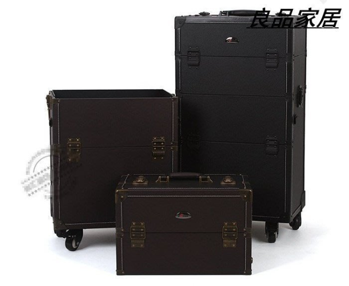 【優上精品】sunrise 2合一超大容量 歐版專業拉桿化妝箱可手提 一箱兩(Z-P3250)