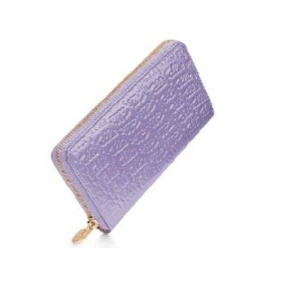 Folli Follie 專櫃正品 Logomania系列皮夾 薰衣草紫亮皮長夾