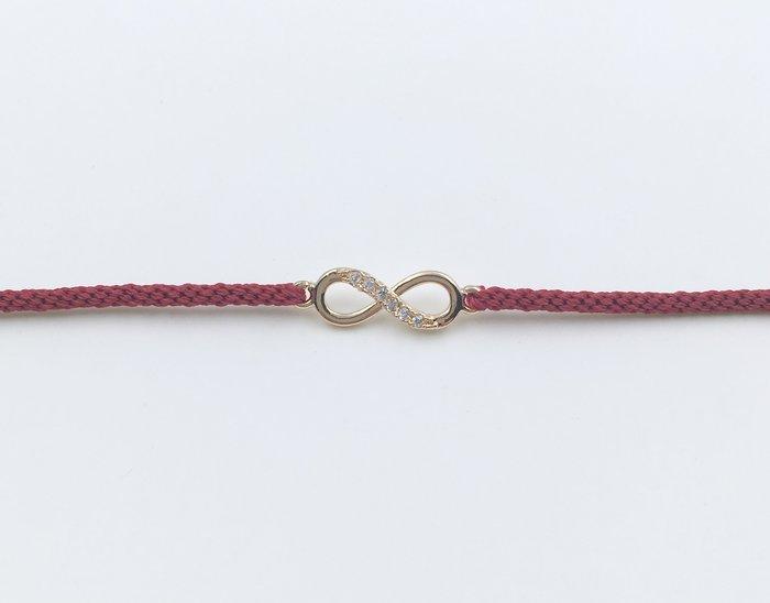 [Le Bonheur Line] 幸福線 手工/ 金 無限 水鑽/ 紅線 幸運繩 編織 redline 手繩 衝浪繩
