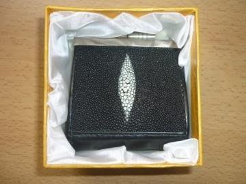全新-泰國雙眼珍珠魚雙珠扣零錢包附盒適合送禮