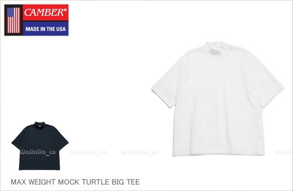 WaShiDa【700055015】9-1 CAMBER MOCK NECK 重磅 落肩 寬版 高領 短袖 T恤 現貨