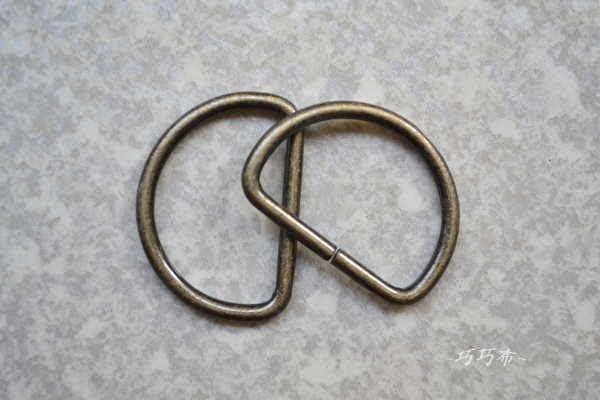 *巧巧布拼布屋*日本進口~拼布D型環3cm  30mmD環 ---2入D環
