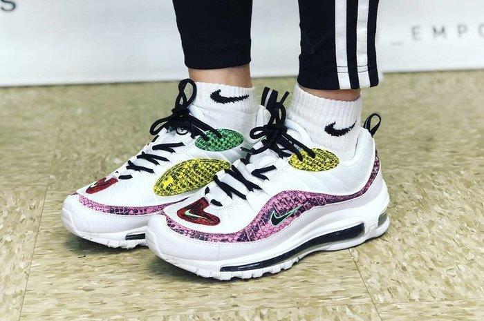 【Cheers】Nike Air Max 97 蛇紋 粉蛇 藍蛇 氣墊 老爹鞋 女鞋 BV1978-100
