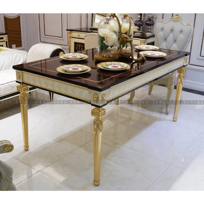 [紅蘋果傢俱] CT-037凡賽斯宮廷系列 餐桌 餐椅 邊几 新古典 歐式 高檔