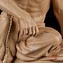玩石不玩工 等於撞白鐘-- 老挝石 天下石 福州工   『持珠羅漢』 福州雕刻神人 名家滄海 附合照