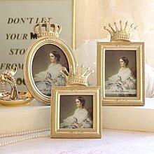 〖洋碼頭〗歐式宮廷風浮雕奢華金色皇冠相框/畫框 復古經典家居擺件 shx173