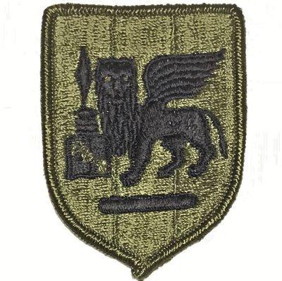 美軍公發 ARMY 陸軍 SETAF Southern European Task Force 臂章 綠色 全新