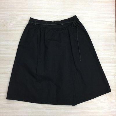 【愛莎&嵐】BY3 女 黑色繫帶及膝裙 / M (全新) 1070611