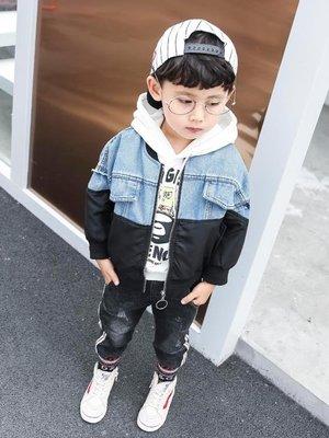 兒童牛仔外套男童牛仔外套秋裝新款兒童開衫夾克洋氣寶寶春秋上衣韓版潮衣