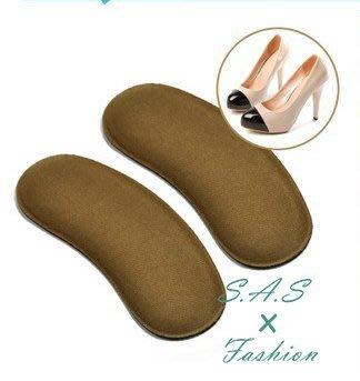 【現貨】加厚 後跟貼防磨腳 布面海棉後跟貼 非鞋墊半碼墊 一對 025