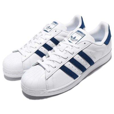 adidas originals 愛迪達 三葉草 Superstar 白色 白藍 貝殼頭 男鞋 BZ1090 YTS