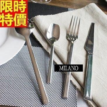 西式餐具組含刀叉餐具-時尚簡約不鏽鋼牛排刀子叉子勺湯匙4件套西餐具套組68f20[德國進口][巴黎精品]