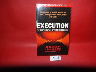 【愛悅二手書坊 12-39】Execution: The Discipline of Getting