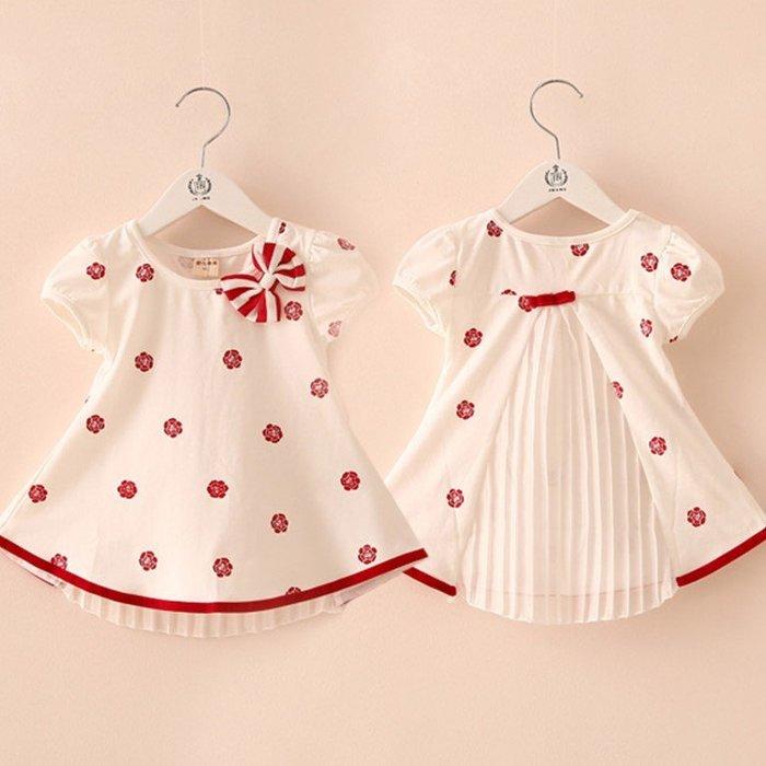 【溜。溜。選物】女童雪紡拼接T恤小洋裝(2色)
