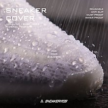 雨天救星 南◇現貨秒發 SNEAKER MOB 走路騎車 鞋套 全黑色 白色 彈性矽膠 球鞋雨套 止滑 雨鞋 防水