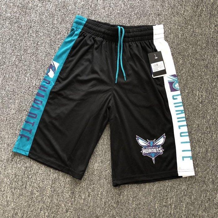 NBA籃球短褲 夏洛特黃蜂隊 WALKER  口袋版 運動籃球褲 正版