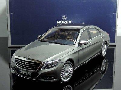 【MASH】現貨特價 Norev 1/18 Mercedes S-Klasse V222 grey 2013