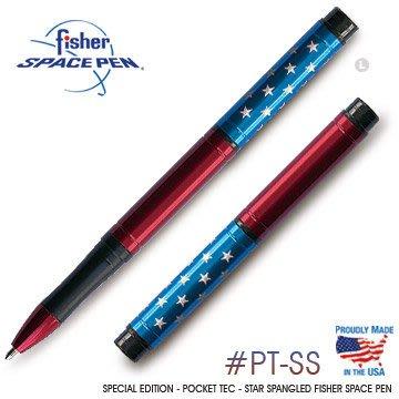 【angel 精品館 】美國 Fisher太空筆特別版-星閃爍POCKET TEC口袋型太空筆_單隻販售PT-SS