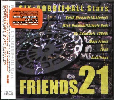K - SLY And ROBBIE + ALL STARS - FRIENDS 21 - 日版 - NEW