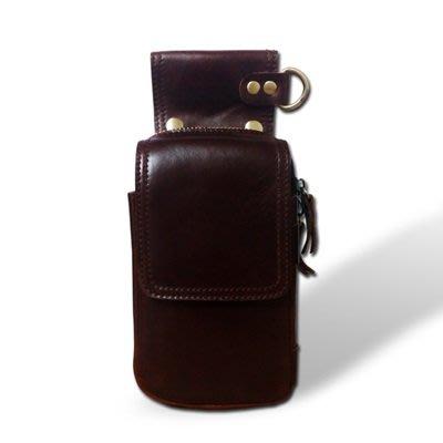 腰 包 真皮 小掛包-穿皮帶純色多功能牛皮男包包5色73tr3[獨家進口][米蘭精品]