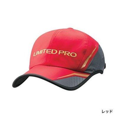 SHIMANO 2019新款 CA-022S LIMITED PRO 防撥水半網狀釣魚帽 紅色