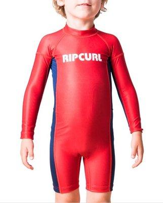 兒童防曬防磨衣 Rip Curl Grom Boys Long Sleeve UV Rash Vest Spring